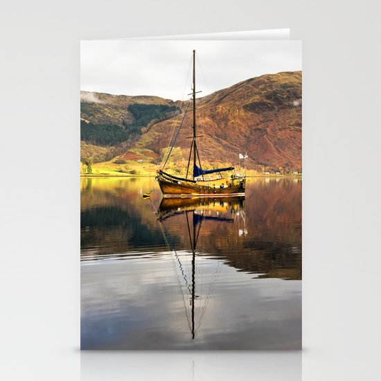 Sailboat Reflections Stationery Cards
