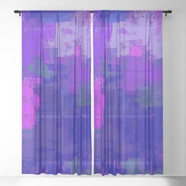 Color Splendor No.1l by Kathy Morton Stanion Sheer Curtain