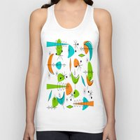 mid century modern Tank Tops featuring Mid-Century Modern Space Age by Kippygirl
