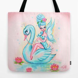 Blue Swan Fairy Tote Bag