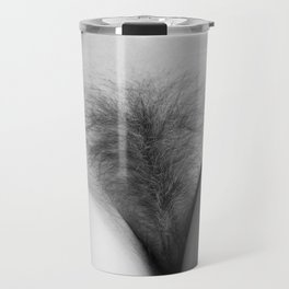 Origin. Delicate Pussy of Sexy Nude Woman Travel Mug