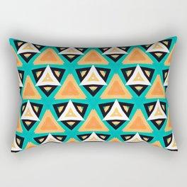 Indian Triangles Rectangular Pillow