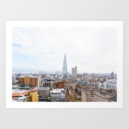 City Skyline View of the Shard, London Art Print