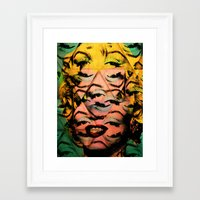 monroe Framed Art Prints featuring Monroe by David