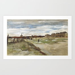 Vincent Van Gogh Bleaching Ground At Scheveningen Art Print