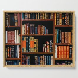 The Bookshelf (Color) Serving Tray