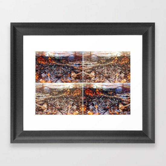 Burn Four Framed Art Print