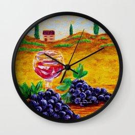Taste Of Italy By Annie Zeno Wall Clock