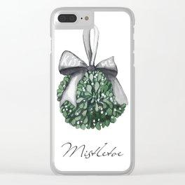 Kiss Me Under the Mistletoe Clear iPhone Case