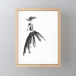 Retro fashion sketch Framed Mini Art Print