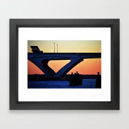 Connect the States Framed Art Print
