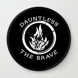 Divergent -  Dauntless The Brave Wall Clock