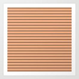 Thin Black Lines On Peach Art Print