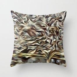 Golden Bradford Pear Tree (Tree collection) Throw Pillow