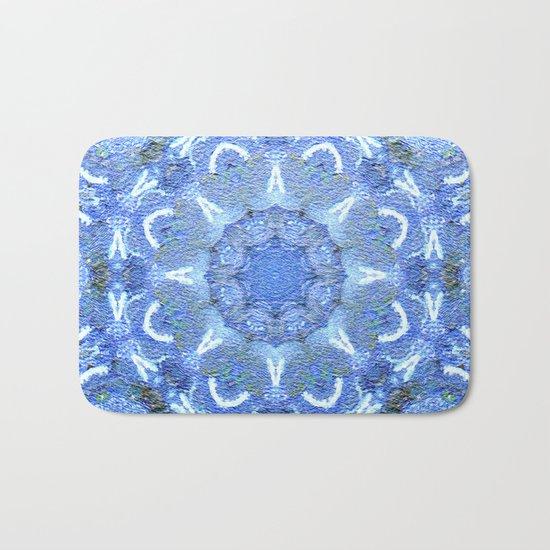 Blue Mosaic Mandala Bath Mat