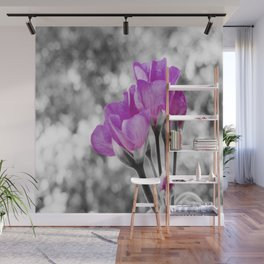 Fuchsia fLOWERS Pop Of Color Wall Mural