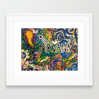 nirvana Framed Art Prints featuring nirvana by Evers