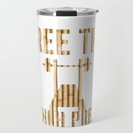 Free The Bench Press Wood Travel Mug