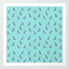 Little birds - by Fanitsa Petr Art Print