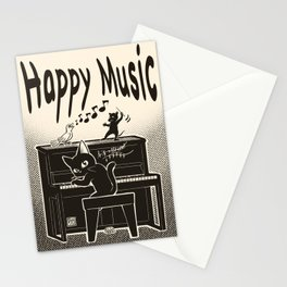 Happy music Stationery Cards
