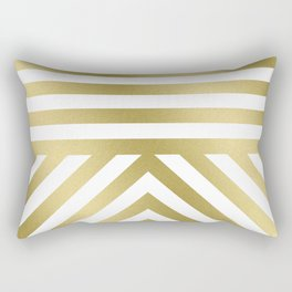 Gold Stripes Rectangular Pillow