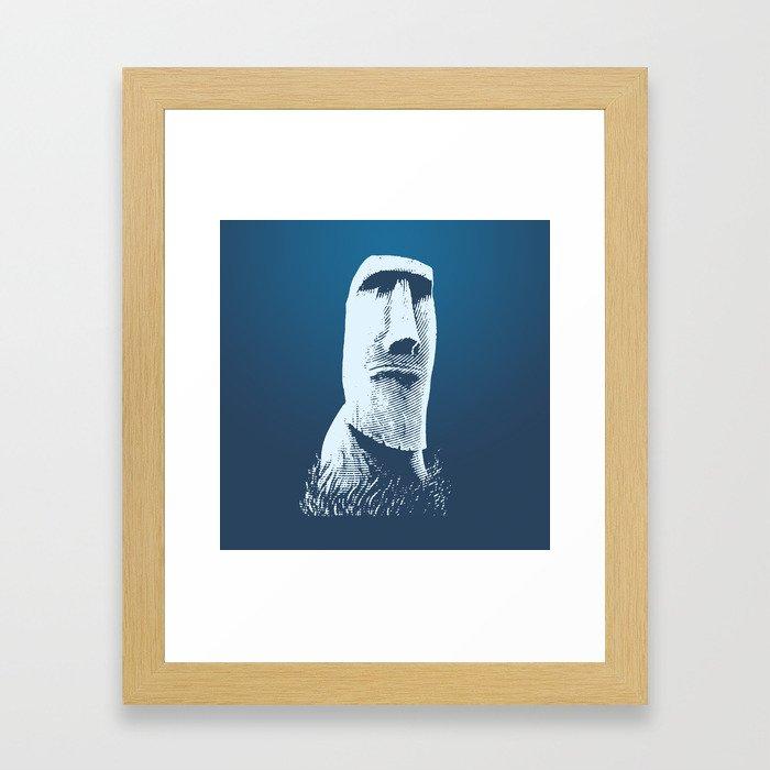 Moai #1 Framed Art Print