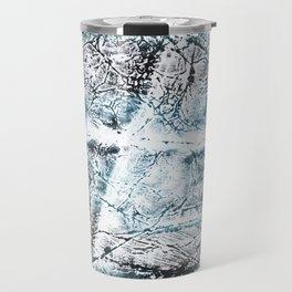 Gray Blue Marble wash drawing Travel Mug