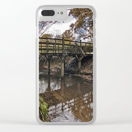 Pooh Bridge In Autumn Clear iPhone Case
