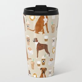 Boxer dog breed coffee pet gifts boxers pupuccino Travel Mug