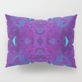 Pink, Purple, and Blue Triangles 2 Pillow Sham