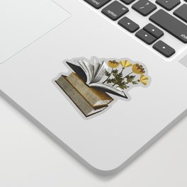 floral reading iv Sticker