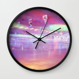 Roller Skating Rink Long Exposure Wall Clock