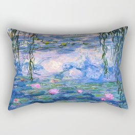 Water Lilies Monet Rectangular Pillow