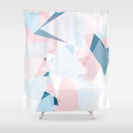Light Triangle Pattern Shower Curtain