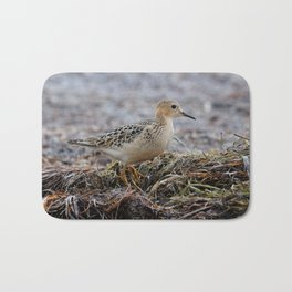 Profile of a Buff-Breasted Sandpiper Bath Mat