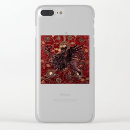Black Gryphon - Garden of Beasts Collection Clear iPhone Case
