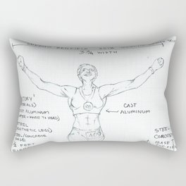 Victory Drawing, Transitions through Triathlon Rectangular Pillow