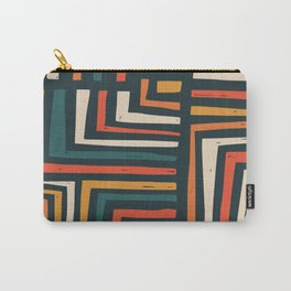 Square puzzle folk pattern Carry-All Pouch