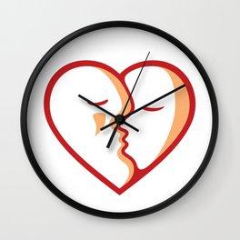 Heart of Kiss Wall Clock