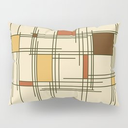 1940s Abstract Art Lines Pillow Sham