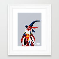merlin Framed Art Prints featuring Merlin by Julien renault
