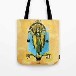 "Ars Tarot of the 12 Zodiac: ""Libra - Justice"" Tote Bag"