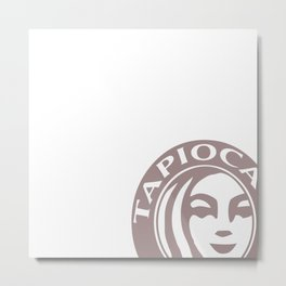 Tapioca Tea Metal Print