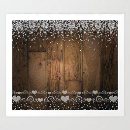Rustic Glam Diamond Sparkles Art Print