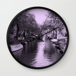 Amsterdam Canal #2 Wall Clock