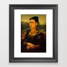 Frida Kahlo's Mona Lisa Framed Art Print
