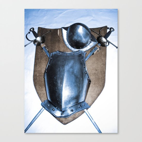 SHIELDS, HELMETS AND SWORDS Canvas Print