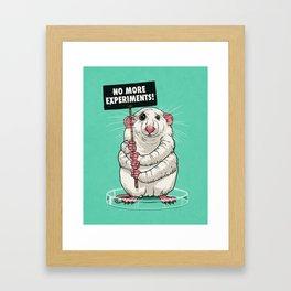 No more experiments! Framed Art Print