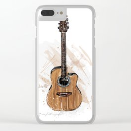 Acoustic Guitar Clear iPhone Case