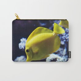 Under the Sea Swimming Yellow Fish Coral Reef Sea Anemone Underwater Photography Wall Art Print Carry-All Pouch